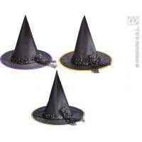 Parti Yıldızı - Çocuk Cadı Şapkası Turuncu ve Mor