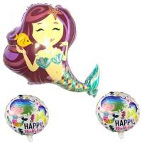 Parti Yıldızı - Deniz Kızı Balon Seti