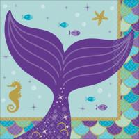 AMSCAN - Deniz Kızı Partisi Küçük Peçete