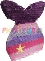 Parti Yıldızı - Deniz Kızı Şekilli Pinyata Mor-Pembe Renk