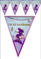 Parti Yıldızı - Deniz Kızı Üçgen Banner