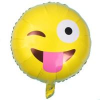 Parti Yıldızı - Dil Çıkaran Emoji Folyo Balon