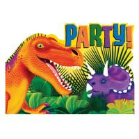 AMSCAN - Dinozor Çağı Partisi Davetiye 8 Adet