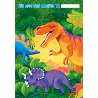 AMSCAN - Dinozor Çağı Partisi Hediye Poşeti 8 Adet