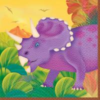 AMSCAN - Dinozor Çağı Partisi Küçük Peçete 16 Adet 25x25cm
