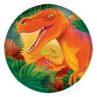 AMSCAN - Dinozor Çağı Partisi Küçük Tabak 8 Adet