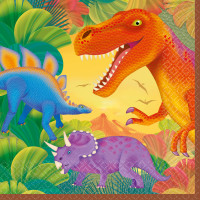 AMSCAN - Dinozor Çağı Partisi Peçete 16 Adet 33x33cm
