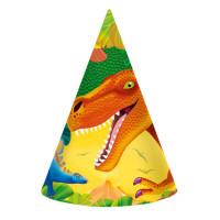 AMSCAN - Dinozor Çağı Partisi Şapka 8 Adet