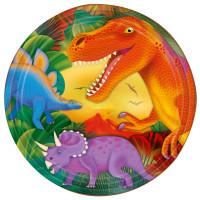 AMSCAN - Dinozor Çağı Partisi Tabak 8 Adet