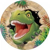Parti Yıldızı - Dinozor Land 8 li Tabak