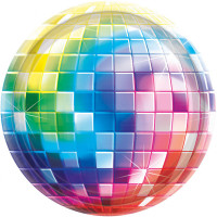 AMSCAN - Disco Partisi Küçük Tabak 8 Adet