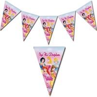 Parti Yıldızı - Disney Prensesleri Üçgen Bayrak Afiş İyiki Doğdun