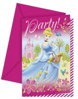 Parti Yıldızı - Disney Prensesleri ve Şatosu 6 lı Davetiye