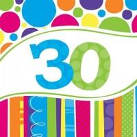 Parti Yıldızı - Doğum Günü Pastası 30 Yaş Peçete
