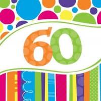 PD - Doğum Günü Pastası 60 Yaş Peçete