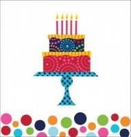 PD - Doğum Günü Pastası Masa Örtüsü
