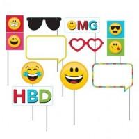 Parti Yıldızı - Emojini Göster Fotoğraf Çekme Aksesuarı 10 Adet