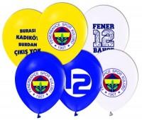 Parti Yıldızı - Fenerbahçe Temalı Paketli Latex Balon 6 Adet