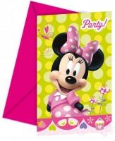 Parti Yıldızı - Fiyonklu Minnie 6 lı Davetiye