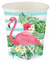 Parti Yıldızı - Flamingo 8 li Karton Bardak
