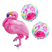 Parti Yıldızı - Flamingo Folyo Balon Set 3lü