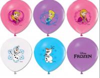 Parti Yıldızı - Frozen Karlar Ülkesi 6 lı Latex Balon