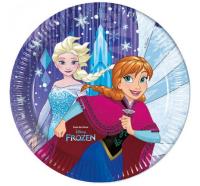 Parti Yıldızı - Frozen Snowflakes 8 li Karton Tabak