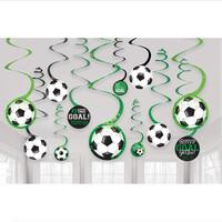 Parti Yıldızı - Futbol Partisi Dalga Süs 12 Adet