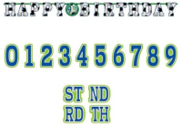 AMSCAN - Futbol Partisi Harf Afiş 320x25 cm ( Yaş Etiketli