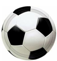 AMSCAN - Futbol Partisi Küçük Tabak 8 Adet