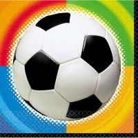 AMSCAN - Futbol Partisi Şampiyona Peçete 33x33cm 16 Adet