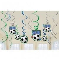 AMSCAN - Futbol Partisi Süs Dalgaları 12 adet