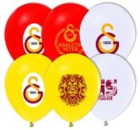 Parti Yıldızı - Galatasaray Temalı Paketli Latex Balon 6 Adet