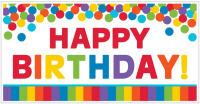 AMSCAN - Gökkuşağı Happy Birthday Duvar Afişi 165x85cm