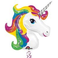 Parti Yıldızı - SShape Gökkuşağı Unicorn Paketli Folyo Balon