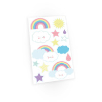 AMSCAN - Gökkuşağı ve Bulutlar Partisi Sticker