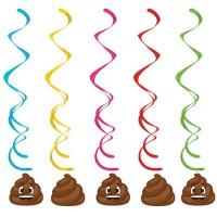 Parti Yıldızı - Gülen Kaka Emojiler Süs Dalgası 5 Adet