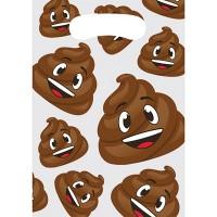 Parti Yıldızı - Gülen Kaka Emojisi Hediye Poşeti 8 Adet