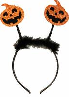 Parti Yıldızı - Halloween Gülen Balkabağı Dekorlu Taç