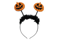 Parti Yıldızı - Halloween Ürkütücü Balkabağı Dekorlu Taç