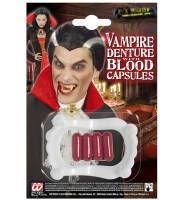 Parti Yıldızı - Halloween Vampir Dişi ve Kan Kapsülü 4 Adet