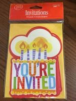 Parti Yıldızı - Happy Birthday Pastalı 8 li Davetiye