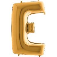 Parti Yıldızı - Harf Balon E Harfi Gold - 100 CM