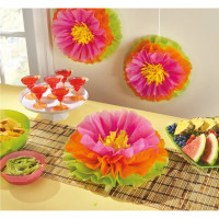 AMSCAN - Hawaii Ponpon Çiçek 3 Adet