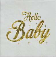 PD - Hello Baby Varak Baskılı Peçete 16 Adet (33x33cm)