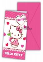 Parti Yıldızı - Hello Kitty Kalpler Davetiye