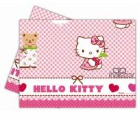 Parti Yıldızı - Hello Kitty Kalpler Masa Örtüsü