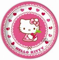 Parti Yıldızı - Hello Kitty Kalpler Tabak