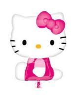 Parti Yıldızı - Hello Kitty Kurdeleli Jumbo Folyo Balon