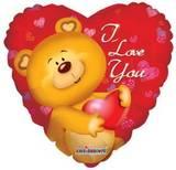 Parti Yıldızı - I Love You Kalp Jumbo Folyo Balon